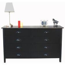 Venture Horizon Nouvelle Black Finish 8 Drawer Bedroom Furniture Lowboy Dresser