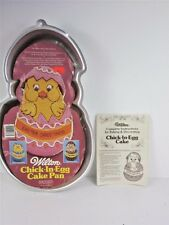 Wilton Cake Pan Chick in Egg Easter Greetings 1985 1821-2356,Orig Booklet,Insert