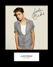 JUSTIN BIEBER 10x8 SIGNED Mounted Photo Print - FREE DEL