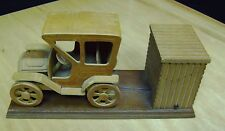 "Music Box Animated Model Car Wooden plays ""King of the Road"" Chinese Craftsman"
