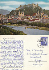 1961 THE FESTIVAL CITY OF SALZBURG AUSTRIA COLOUR POSTCARD