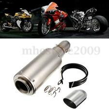 38-51mm Motorcycle Chorme GP Stainless Steel Exhaust Muffler Scooter Dirt Bike