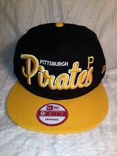 100% AUTHENTIC NEW ERA 9FIFTY MLB PITTSBURGH PIRATES SNAP BACK HAT