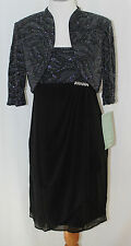 R&M Richards, 8P, Black/Silver Dress/Jacket New with Tags