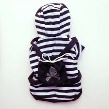 Black Stripe Skull Backpack Outfit DOGS- clothes Chihuahua Nice M