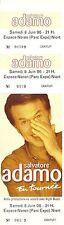 RARE / TICKET BILLET DE CONCERT - ADAMO LIVE A NIORT JUIN 1996 / COMME NEUF