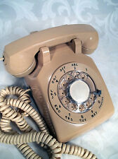 Vtg 70s Bell System Western Electronic 500 DM Rotary Dial desk phone Peach Pink