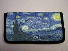 VAN GOGH STARY NIGHT  IMAGE NEOPRENE FABRIC  CHECKBOOK COVER