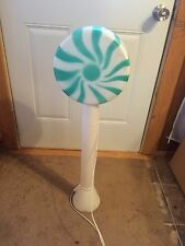 VINTAGE GREEN LOLLIPOP 33 INCHES BLOW MOLD HOLIDAY CHRISTMAS YARD DECOR