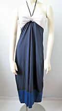LACOSTE Women Color Block Tube Jersey Maxi Dress NwT 40 size 8