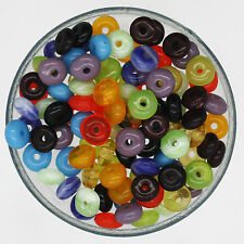 Czech Glass Wafer Disc Rondel 4mm wide Bead Mix Assorted Colors & Finishes