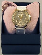 Juicy Couture Women's 1900966 'Jetsetter' White Silicone Watch - NEW - FREE Ship