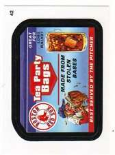 2016 Topps MLB Wacky Packages #42 Red Sox Tea Party Bags