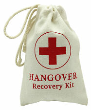 Hangover Recovery Kit Canvas Bag Party Favor First Aid Kit Bags 10 Pcs