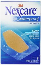 3M Waterproof Clear Bandages - for Knee And Elbow, 6 Pack of 8Pcs By Nexcare