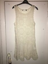 White Crochet Dress Size 8 Rat And Boa Style