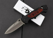 SOG Outdoor Camping Tool Stainless Steel co  Pocket Survival Folding Blade Knife