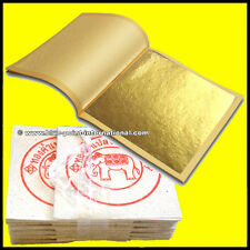100 GOLD LEAF LEAVES SHEETS - EDIBLE - 99.9% pure - 24 Carats - Food Grade