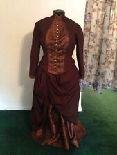 Victorian Ladies Bustle Dress Costume