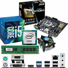 Intel Core i5 6400 2.7ghz & ASUS h110m-a & 4gb ddr4 2133 Bundle Crucial