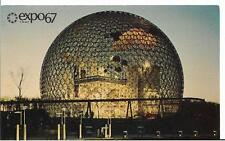 "expo 67 Montreal, Canada Geodesic ""sky bubble"" Free Shipping!"
