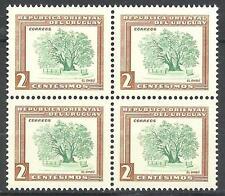 Uruguay 1954 Sc# 607 Ombu tree block 4 MNH