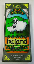 IRELAND Clara Stained Glass Hanging Panel IRISH SHEEP AND LAMB