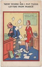 POSTCARD COMIC  Now where did I put those letters from France