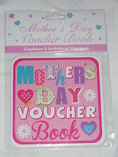 VOUCHER BOOK MOTHERS DAY - 5 VOUCHERS PER BOOK NOVELTY GIFT ITEM MUM MUMMY