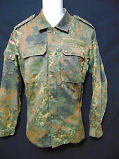 KOHLER GMBH /91 Vintage German Military Flecktarn BDU Shirt 175-185 7585/9500