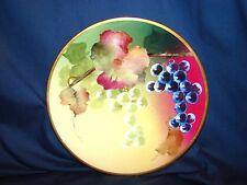 Vintage La Croix M.I. Co. Hand Painted Grapes Fruit Plate