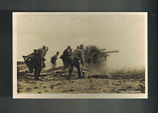Mint WW 2 Germany Wehrmacht Firing Artillery Howitzer RPPC real picture Postcard