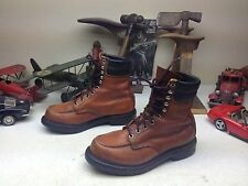 VINTAGE RED WING USA OXBLOOD LEATHER LACE UP ENGINEER CHORE BOSS WORK BOOTS 6.5D