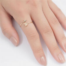 USA Seller Arrow Ring Sterling Silver 925 Gold Plated Best Deal Jewelry Size 9