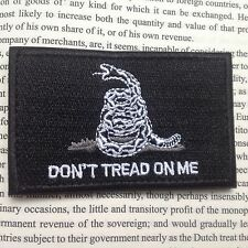 BLACK DON'T TREAD ON ME TACTICAL MILITARY USA ARMY MORALE PATCH /BLACK
