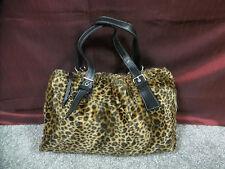 Multi-Color Animal Print Faux Fur Design Shoulder/Tote Bag w/Black Liner