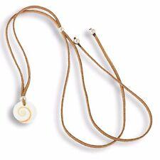 Halskette Anhänger 1,5cm Shiva Muschel inkl. Band braun N262