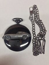 Jaguar E Type Series 1 ref101 Pewter Effect black case pocket watch