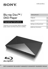 Sony BDP-S3200 Blu-ray Player Owners Manual