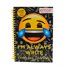 A5 Emoji Icons Smily Face Notebook Lined Pages Pad paper Back Printed Notepad