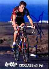 Rik Verbrugghe Team lotto 96 Signed Autographe cycling champion Belgium belgian