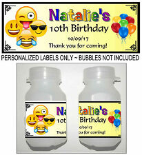 30 EMOJI BIRTHDAY PARTY FAVORS BUBBLE LABELS
