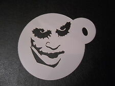 Laser cut small Joker design cake, cookie,craft & face painting stencil