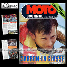 MOTO JOURNAL N°315 TRIAL TOTEMS ENDURO FRANCO GUALDI EGBERT HAAS MORINI 250 1977