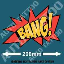 BANG DECAL STICKER GREAT FOR AMMO BOX BAR FRIDGE VEHICLE MANCAVE TOOLS STICKERS