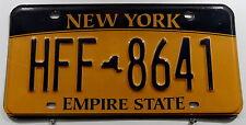 """Nummernschild USA aus New York """"Empire State"""" mit kleiner Map """"HFF"""". 13226."""