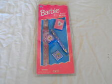 1997 Barbie Ruler Watch with Pencil, Eraser and Small Pad of Paper