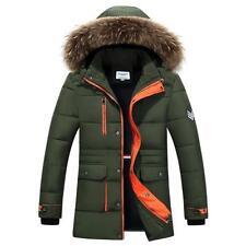 2016 Winter Warm Coat Men Down Cotton Parka Coat Long Fur Hooded Jacket Outwear