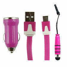 Universal Trio Pack (Micro USB, Car Charger, Mini Stylus) for Acer Phones