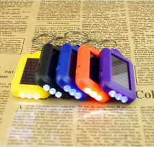 Sale 1pc Mini Solar Power Rechargeable 3LED Flashlight Key chain tip
